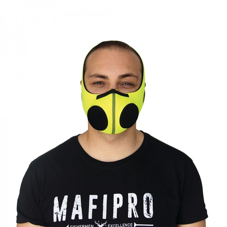 Yellow Protection Mask with Activated Charcoal Filter