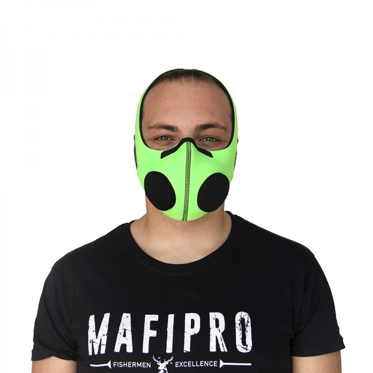Fluorescent Green Protection Mask with Activated Charcoal Filter