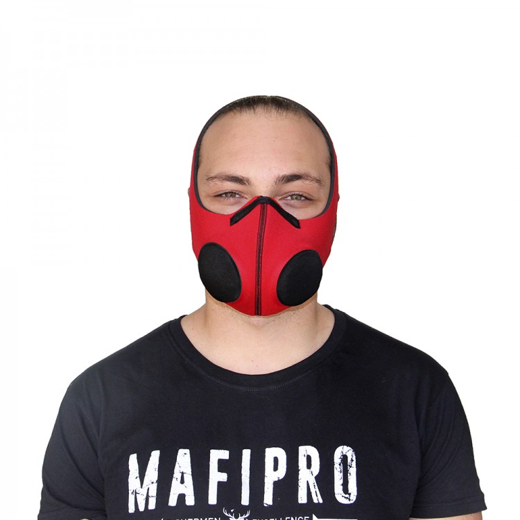 Red Protection Mask with Activated Charcoal Filter